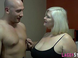 Horny granny loves cock