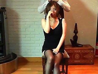 Korean porn oily girl in stockings