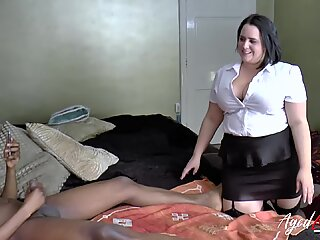 AgedLovE Busty Ladies Interracial Threesome