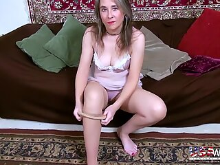 USAwives Milf Marie Hairy Pussy Toy Masturbation