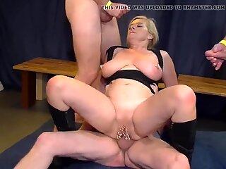 Hot slut with piercings wants gangbang