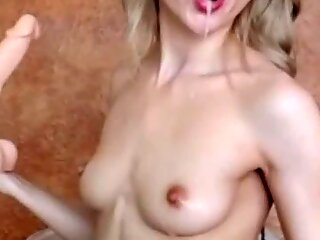 hot skinny blonde deepthroat