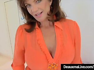 Cock Hungry Cougar Deauxma Gets A Dick In All Her Holes!