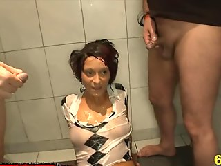 Extreme Pee lover Nicky gets her tight pussy wet - 666Bukkake