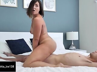 Booty mom makes amazing BJ and fucks lucky son