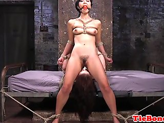 Inked sub pussylicked by punished asian