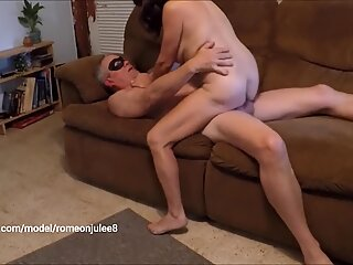 Mature Wife Fucks Stranger Swallows Load while Cuckold Husband Films