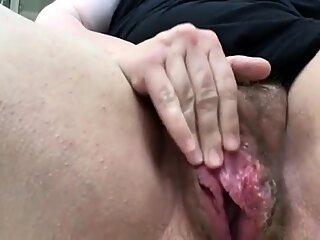 Leela-Chase # Hairy Pussy Close-p Orgasm