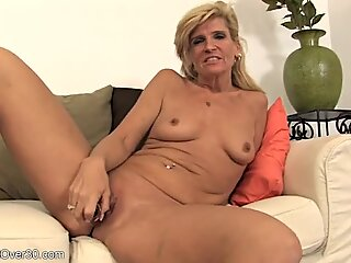 Mommy Satisfied By Dildo