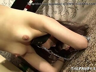 Latin suspension bondage and sexual submission of chubby south american submisa