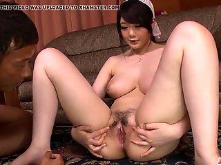 Top busty milf Rie Tachikawa intense sex on cam