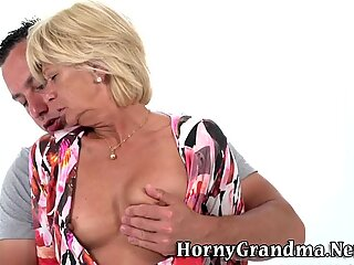 Grandmothers face jizzed
