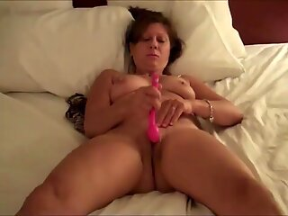 Mature wife masturbating till orgasm in front he lover