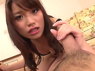 Peeing Girl Banana Asada Makes Two Guys Cum - More at Pissjp.com