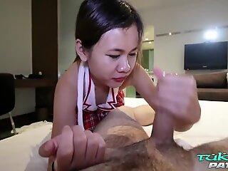 TUKTUKPATROL Small Tit Thai School Girl Creams On Big Dick