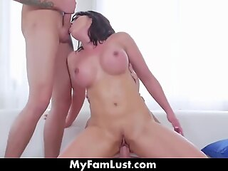 Window Stucked Mom Gets banged By Both Step Sons