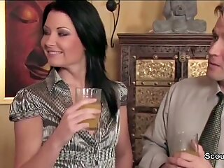 Hot MILF get asshole fucked by Son of her Friend