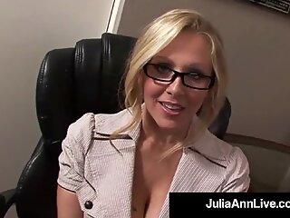 Award Winning Milf Julia Ann Gets Cum In Her Eye On The Job!