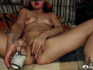 Seductive Stepmom Masturbates With A Bottle Before Screwing