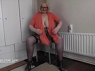 Baring my huge tits and pussy