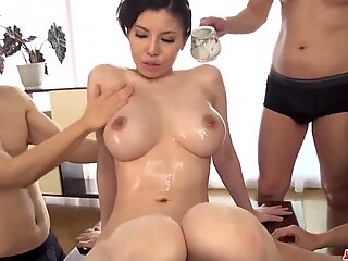 Busty Asian milf amazes with her real porn skills - More at Japanesemamas com