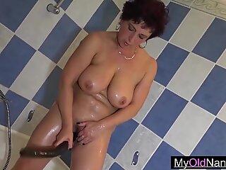 Granny visits her young slut