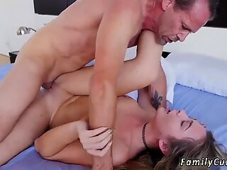 Her stepdad deviants out because his wifey is literally right there!