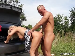 bitch Mia gets an extra long beef whistle GrandMams.com