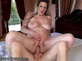 LustyGrandmas Big Tits Mature Gets that Good Cock