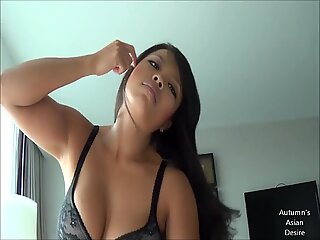 Hot Asian Chick Rides A Big White Cock