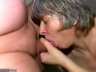 Pretty granny was fucked from young guy