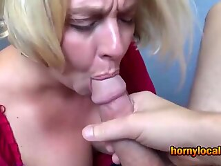Mature Busty Blonde Gets Fucked Hard until She Cums