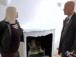 AgedLovE Hardcore Fuck with Seduced Sales Agent
