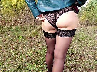 Sexy Girl Dresses Panties Slut Stockings